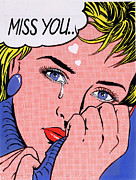 """pop Art"" Photo Prints - Miss You Print by MGL Studio"