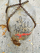 Ball Pyrography Posters - Missing You Poster by Joan Reese