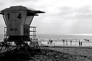 Coastguard Photo Framed Prints - Mission Beach San Diego Framed Print by David Gardener