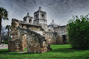 Gerlinde Keating Framed Prints - Mission Concepcion San Antonio Texas Framed Print by Gerlinde Keating - Keating Associates Inc