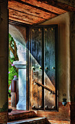 Adobe Architecture Prints - Mission Door Print by Joan Carroll