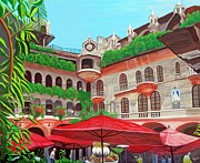 Umbrellas Digital Art - Mission-inn by Carlos Acosta