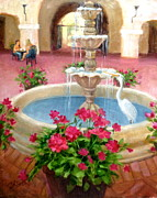 Janet Mcgrath Metal Prints - Mission Inn Fountain Metal Print by Janet McGrath
