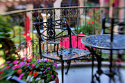 Selective Soft Focus Prints - Mission Inn Patio Print by Kim Michaels