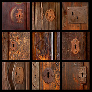 Aged Art Collage Prints - Mission Lock Study Print by Art Block Collections