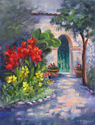 Mission Originals - Mission San Juan Bautista Cana Lilies  by Karin  Leonard