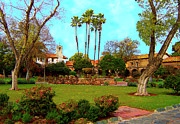 Picturesque Digital Art Prints - Mission San Juan Capistrano No 11 Print by Ben and Raisa Gertsberg