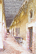 Earth Tones Metal Prints - Mission San Juan Capistrano No 5 Metal Print by Ben and Raisa Gertsberg