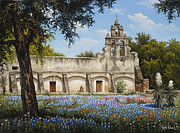 San Juan Painting Metal Prints - Mission San Juan Metal Print by Kyle Wood
