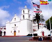 Mission San Luis Rey Print by Jerome Stumphauzer