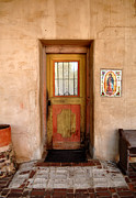 Painted Door Prints - Mission San Miguel Doorway Print by Tony Ramos