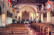 San Rafael Church Prints - Mission San Rafael 2 Print by Arnold Richardson