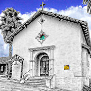 Mission San Rafael Digital Art Framed Prints - Mission San Rafael Arcangel Framed Print by Ken Evans