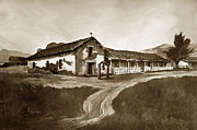 Mission San Rafael Photo Posters - Mission San Rafael circa 1880 Poster by California Views Mr Pat Hathaway Archives