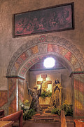 St. Clare Framed Prints - Mission Santa Barbara 6 Framed Print by Arnold Richardson
