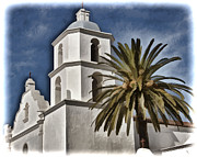 Oceanside California Posters - Mission Tower - San Luis Rey Poster by Jon Berghoff