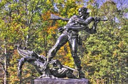 Pitzer Woods Prints - Mississippi at Gettysburg - Defending the Fallen Colors No. 1 Print by Michael Mazaika