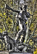Pitzer Woods Prints - Mississippi at Gettysburg - Defending the Fallen Colors No. 2 Print by Michael Mazaika