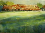 Mississippi Barn Print by Elizabeth Carr