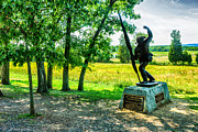4th Mixed Media Prints - Mississippi Memorial Gettysburg Battleground Print by Nadine and Bob Johnston