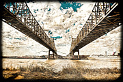 Mississippi Photographs Prints - Mississippi River Bridge Twin Spans Print by Ray Devlin