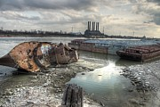 Wreck Prints - Mississippi River Print by Jane Linders