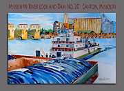 Towboat Framed Prints - Mississippi River towboat Framed Print by Dennis Weiser