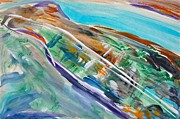 Mississippi River Painting Originals - Mississippi River by Troy Thomas