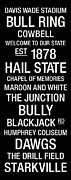 Black And White Photos Prints - Mississippi State College Town Wall Art Print by Replay Photos