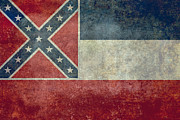 Confederacy Digital Art Prints - Mississippi State flag Print by Bruce Stanfield