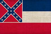 Mississippi State Flag Print by Pixel Chimp