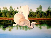 Migratory Bird Painting Framed Prints - Mississippi Summer Framed Print by Phyllis Beiser