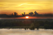Leon Hollins Iii Prints - Mississippi Sunset Print by Leon Hollins III