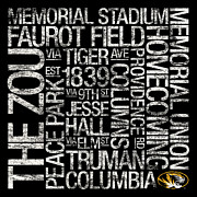 Memorial Stadium Art - Missouri College Colors Subway Art by Replay Photos
