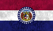 Missouri Posters - Missouri Flag Poster by World Art Prints And Designs