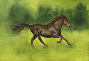 Trotting Paintings - Missouri Fox Trotter Horse by Nan Wright