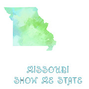 Abstract Map Posters - Missouri - Show Me State - Map - State Phrase - Geology Poster by Andee Photography