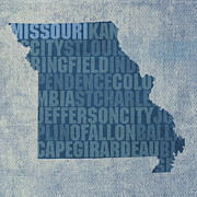 Missouri Mixed Media - Missouri Word Art State Map on Canvas by Design Turnpike