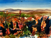 Fall Panorama Paintings - Missouris Rooftop by Kip DeVore