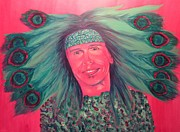 Steven Tyler Painting Originals - Mister Peacock by Jeepee Aero