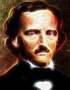 Edgar Allan Poe Paintings - Mistical Edgar Allan Poe by Paul Van Scott