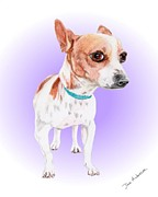 Animal Shelter Mixed Media - Mistletoe - a former shelter sweetie by Dave Anderson
