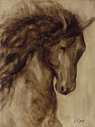 Horse Head Paintings - Misty by Catherine Davis