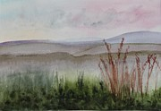 Watercolor Prints - Misty Day in NEK Print by Donna Walsh