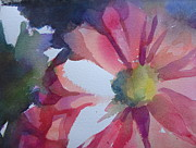 Gerbera Daisy Paintings - Misty Gerbera by Sri Rao