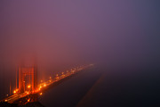 Panoramic Art - Misty Golden Gate  by Francesco Emanuele Carucci