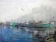 Durst Painting Prints - Misty Morning in Hout Bay Print by Michael Durst