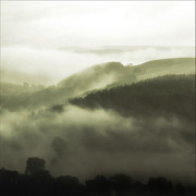 Wales Digital Art - Misty Morning - North Wales by George Standen