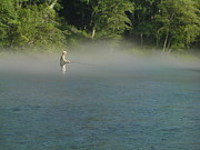 Heber Springs Photos - Misty Morning on the River by Phil Rispin