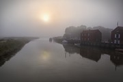 Snape Prints - Misty Morning River Alde UK Print by Ralph Muir